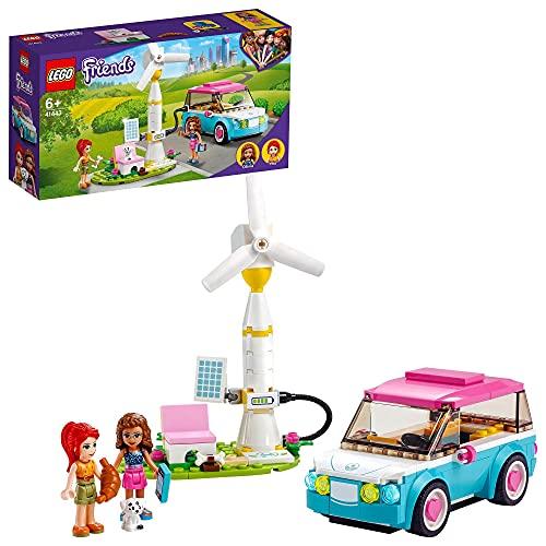 LEGO 41443 Friends Olivias Elektroauto Set, Spielzeug ab 6 Jahren mit...