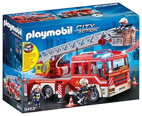 Playmobil City Action 9463 Feuerwehr-Leiterfahrzeug mit Licht und...
