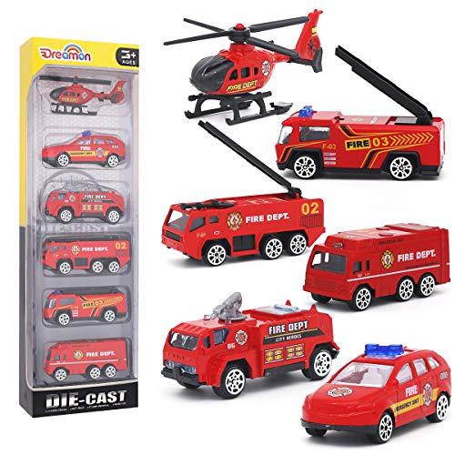 Dreamon Spielzeugautos Feuerwehrauto Fahrzeuge Feuerwehrmann Spielzeug...