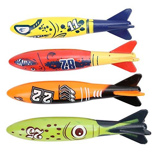 Alomejor 4 Stücke Tauchen Ausbildung Spielzeug Unterwasser Torpedo...