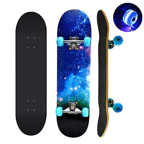 Skateboard, 78,7 x 20,3 cm komplettes Skateboard, 9 Schichten...