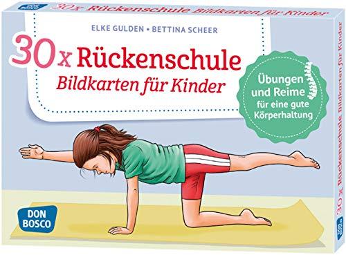 30 x Rückenschule. Bildkarten für Kinder. Übungen...