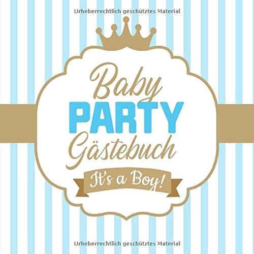 Babyparty Gästebuch - It's a boy: Babyshower Deko für Junge |...