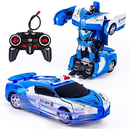 Vubkkty Transformator Ferngesteuertes Auto Spielzeug für Jungen, 2 in...