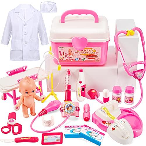 BUYGER Arztkoffer Kinder Doktorkoffer Rollenspiel Spielzeug Mädchen...