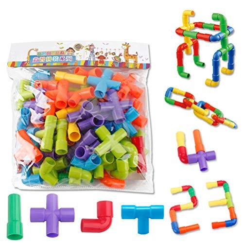 YEKKU Tube Building Blocks Spielzeug, Schlauchkonstruktion Spielzeug...