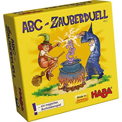 Haba 4912 - ABC Zauberduell, Lernspiel ab 6 Jahren zum Buchstabenlernen, perfektes Geschenk für...