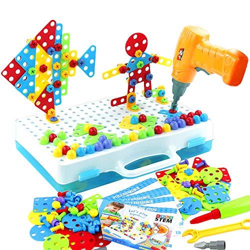 Mosaik Steckspiel Spielzeug ab 3 4 5 Jahre 3D Puzzle Bohrmaschine...