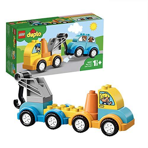 LEGO 10883 DUPLO Mein erster Abschleppwagen, Bauset mit Spielzeugauto...
