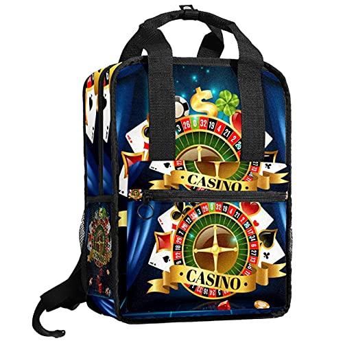 KAMEARI Rucksack College Bookbags Schultertasche Bookbags Casino Nacht...