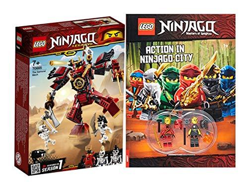 Lego NINJAGO Set: 70665 Samurai-Roboter + Action in Ninjago City (Deutsch) Taschenbuch, ab 6 Jahren
