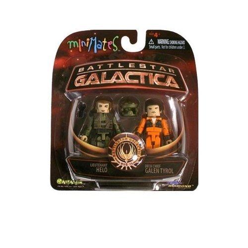 Minimates: Battlestar Galactica Serie 3  Lieutenant Helo & Deck Chief...