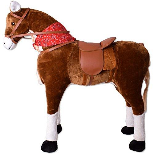 TE-Trend Reitpferd XXL Pferd Stehpferd Standpferd Sattel Schaukeltier...