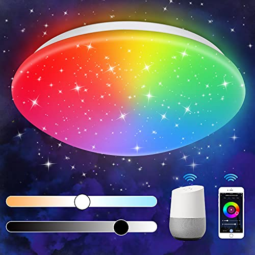 Smart LED Deckenleuchte Dimmbar Kompatibel mit Wifi Alexa Google Home...