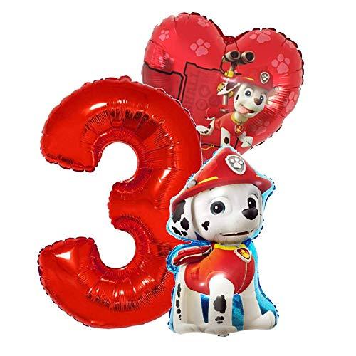 Marshall Geburtstags Set Folienballon Luftballon Paw Patrol Team Hunde...