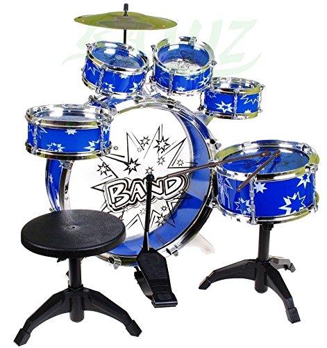 BSD Steinbach Kinderschlagzeug, Schlagzeug mit Hocker und 2...