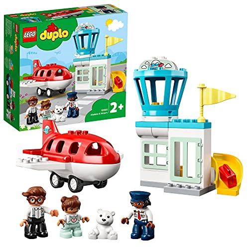 LEGO 10961 DUPLO Flugzeug und Flughafen Spielzeug Set für Kleinkinder...