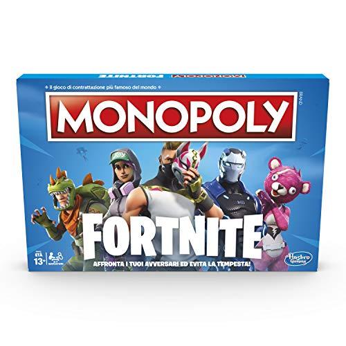 Hasbro Monopoly Fortnite Brettspiel (italienische Version) mehrfarbig
