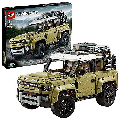 LEGO 42110 Technic Land Rover Defender, Modellauto, 4x4 Geländewagen...