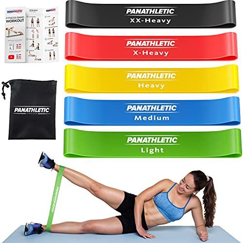 Panathletic Fitnessbänder, 5er Set – 5 Verschiedene Stärken,...