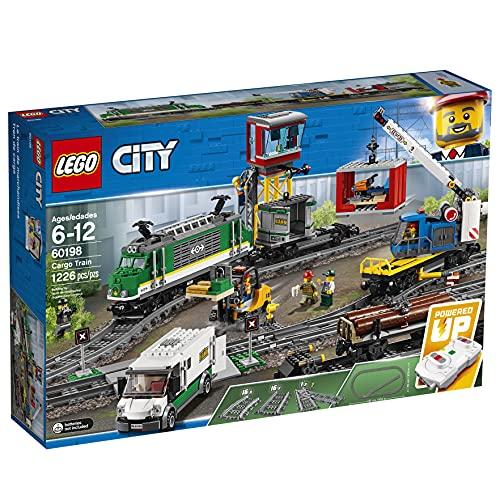 LEGO 60198 City Güterzug, Set mit batteriebetriebenem Motor für...