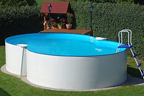 Basic Schwimmbecken-Set Achform von Summer Fun inkl. Sandfilteranlage, 470 x 300 x 120 cm