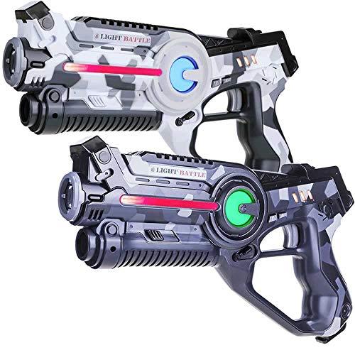 Light Battle Active Laser Game Set - 2X Laserpistole (camo grau, camo...
