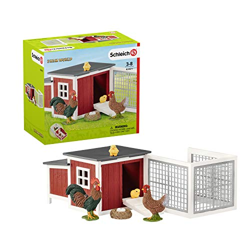 Schleich 42421 Farm World Spielset - Hühnerstall, Spielzeug ab 3...
