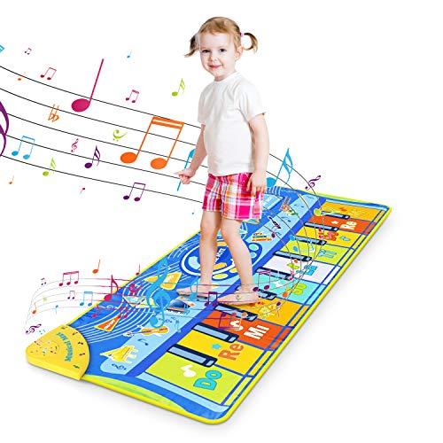 RenFox Klaviermatte für Kinder, Tanzmatte Musikmatte mit 8...