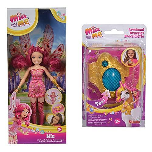 Simba 109480089 – Mia and Me Neue Puppe Mia mit Glasaugen &...