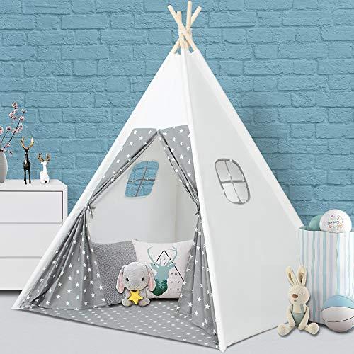 Wilwolfer Tipi Zelt für Kinder Faltbares Kinder Spielzelt für...