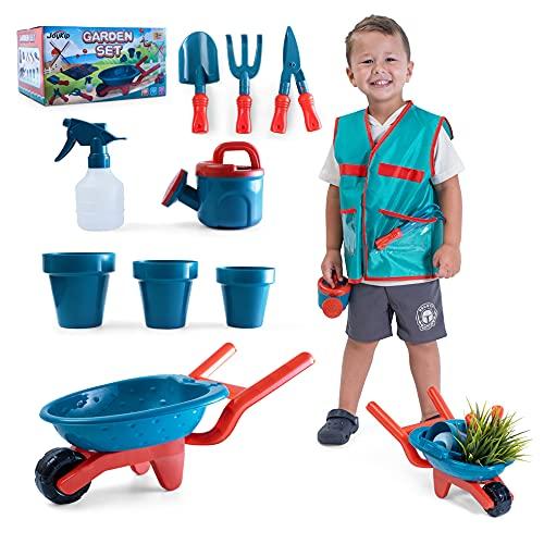JoyKip Kindergarten-Set mit kleiner Schubkarre, Spaten, Gießkanne und...