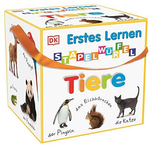 Erstes Lernen Stapelwürfel. Tiere: 10 stabile Karton-Würfel ab 1...