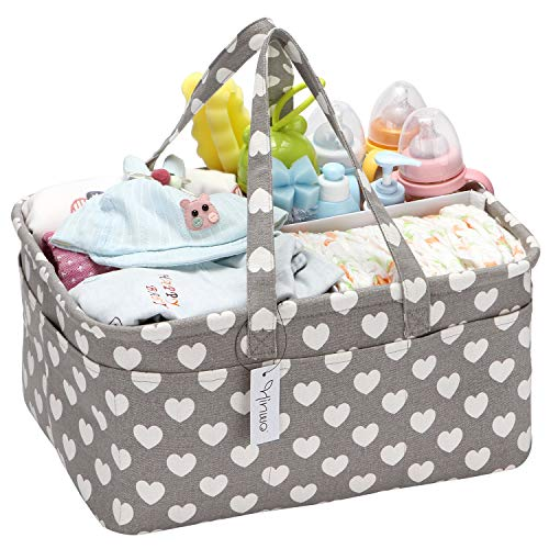 Hinwo Baby Windel Caddy 3-Compartment Infant Nursery...
