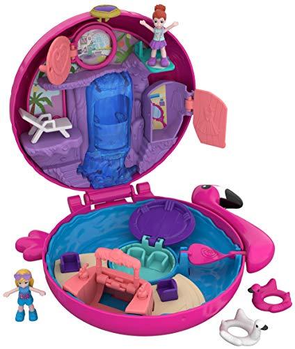 Polly Pocket FRY38 - World Flamingo Schwimmring Schatulle Puppen Spielset, zum Sammeln, Mädchen Spielzeug ab...