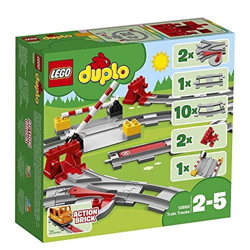 LEGO 10882 DUPLO Eisenbahn Schienen, Bauset mit einem roten...