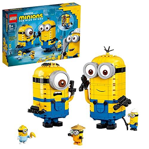 Lego 75551 Minions Minions-Figuren Bauset mit Versteck, Spielzeug für...