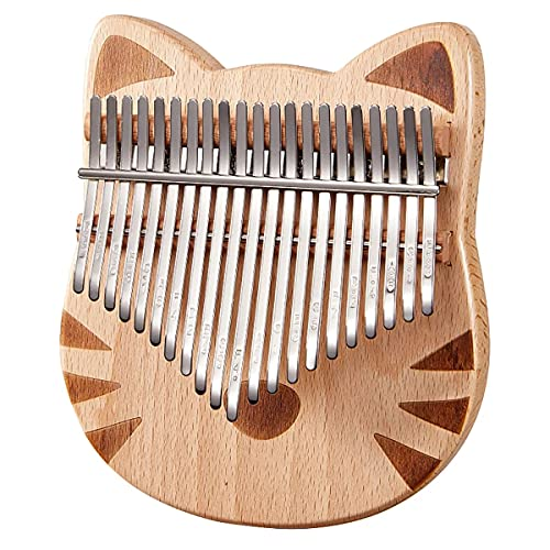 Kalimba 21-Key Thumb Piano Buche Finger Klavier Spielinstrument Set...