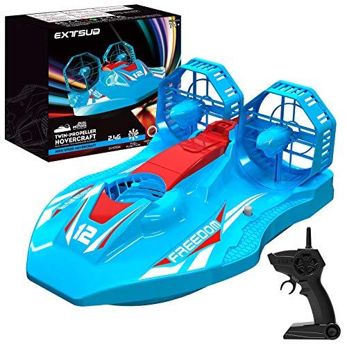 EXTSUD Hovercraft Kinderspielzeug, 2-in-1 Rennboot und Racing 2,4GHz...