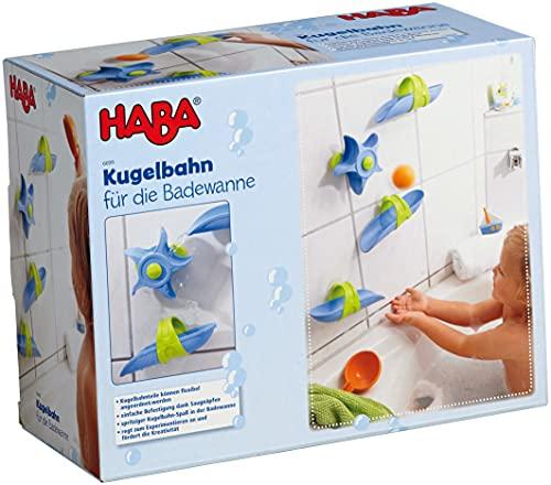 Haba 6699 - Kugelbahn Badespaß Wasserstrudel, spritziger...