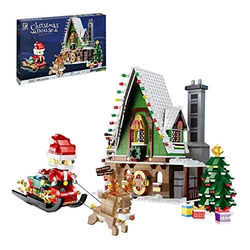 Christmas House Street View-Serie, 1452 PCS Weihnachtsbaustein-Modell,...