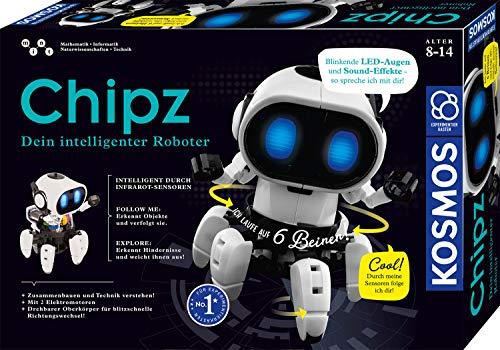 KOSMOS - Chipz - Dein intelligenter Roboter, mit 6 Beinen, folgt Bewegungen, weicht Hindernissen aus, Licht-...