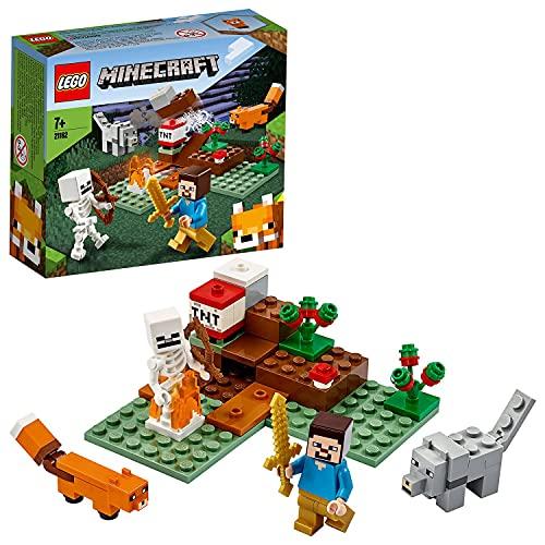 Lego 21162 Minecraft Das Taiga-Abenteuer Bauset mit Figuren: Steve,...