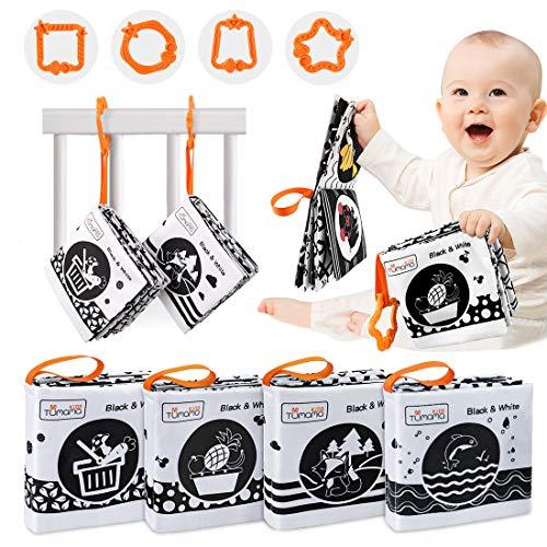 TUMAMA Stoffbuch für Babys, Soft Bilderbuch Babyspielzeug Weiches Buch mit Tieren,Obst,Gemüse,Baby...