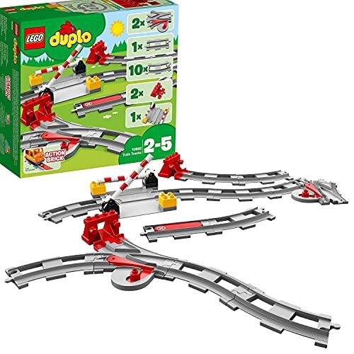 LEGO 10882 DUPLO Town Eisenbahn Schienen, Bauset mit einem roten...