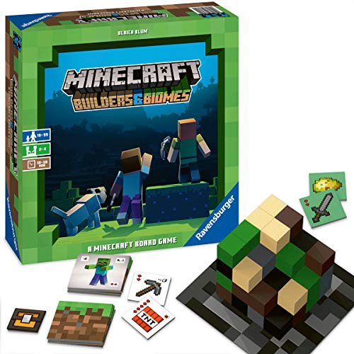 Ravensburger Familienspiel Minecraft Builders & Biomes, Gesellschaftsspiel für Kinder und Erwachsene, für...