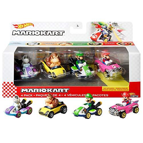 Hot Wheels GWB37 - Mario Kart Die-Cast-Charaktere in...