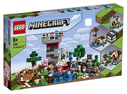 LEGO 21161 Minecraft Die Crafting-Box 3.0 2-in-1 Set Schloss oder Farm...