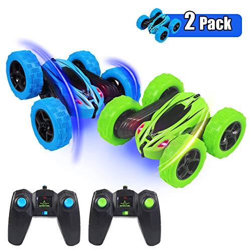 ThinkMax 2 Stück Ferngesteuertes Auto Stunt Auto für Kinder, 4WD 2,4 GHz RC Stunt Auto, 360 Spins und Flips...
