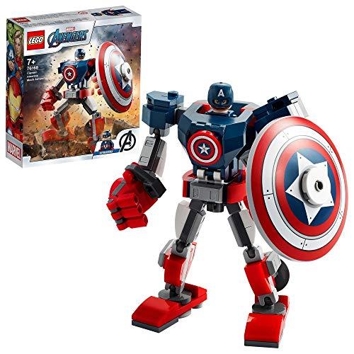 LEGO 76168 Marvel Avengers Captain America Mech Set, Actionfigur für...